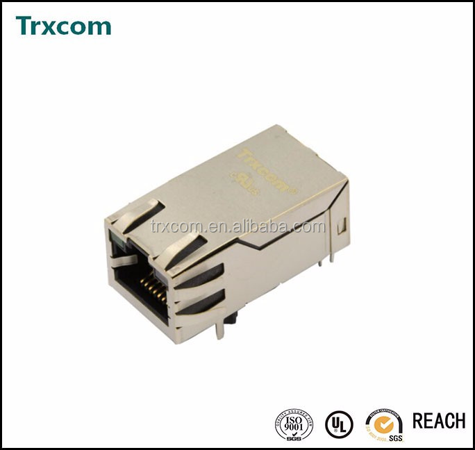 1000Base-TX RJ45 Connector Integrated Magnetics With LED PTC11xx-01L/PTC11xx-<strong>03</strong>