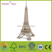 Wholesale 3D DIY Puzzle Wooden Eiffel Tower Model