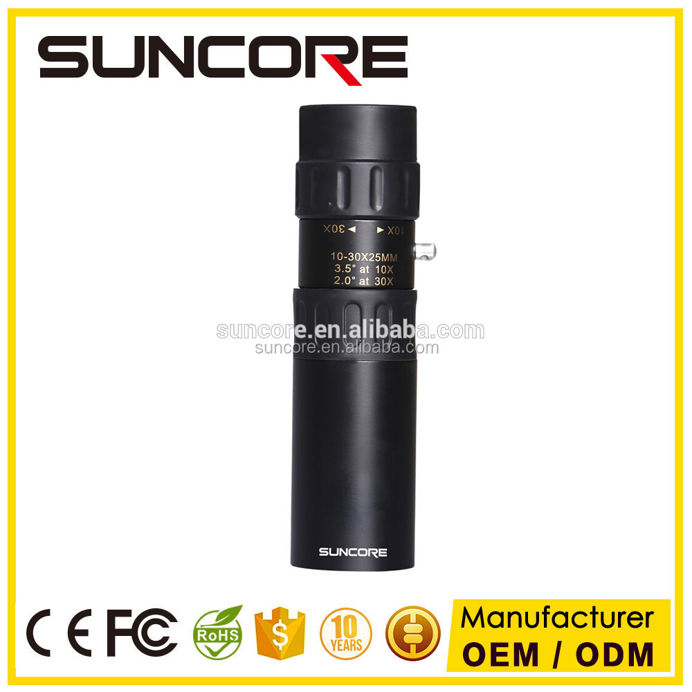 SUNCCORE High Power Zoom Optical Monocular Telescope 10-30x25 Day and Night Vision Telescope Adjustable Focus