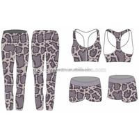 blue and grey ladies sublimated custom gym wear activewear set
