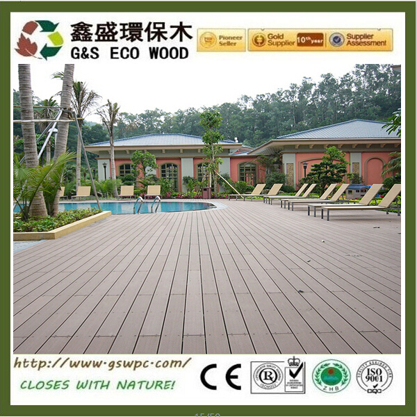 Easy install wood plastic composite decking Outside balcony wpc flooring materials