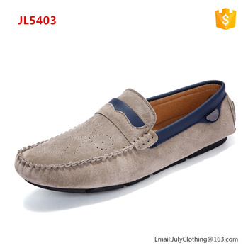 2017 Autumn Breathable Suede Leather Men Loafer Moccasin Shoes