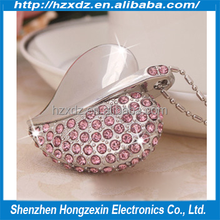 Bulk cheap Christmas / Birthday Promotional Gift usb keys 4gb loving heart USB pen drives 4GB Metal + Jewelry TOP sale
