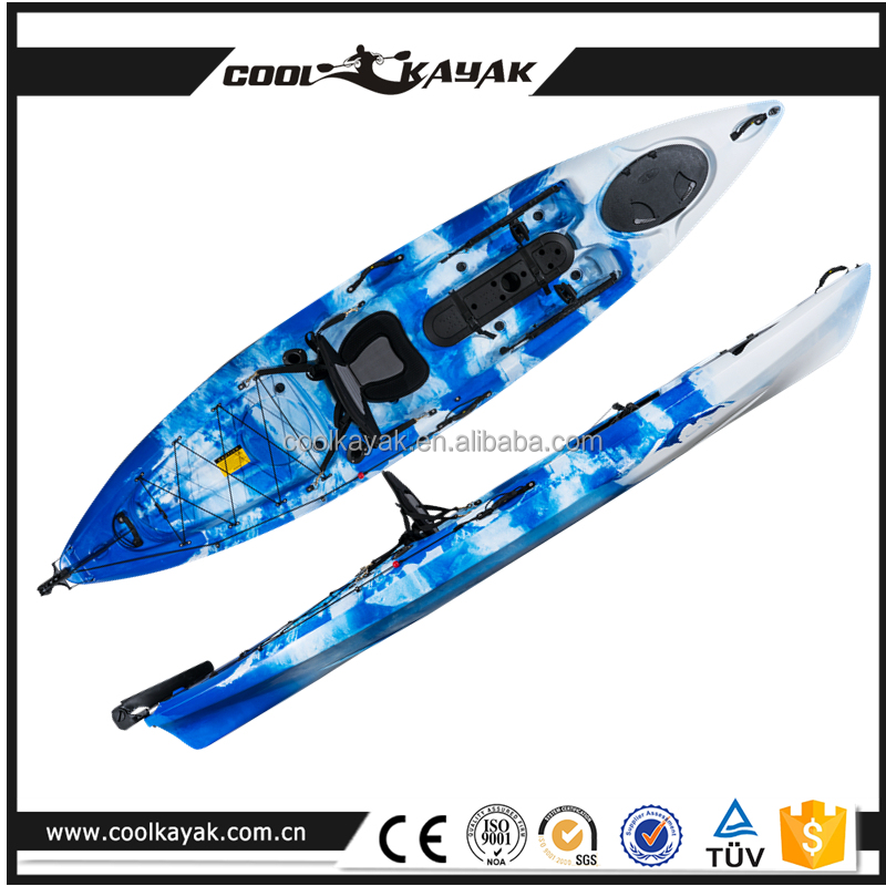 3--4 m length plastic fishing canoe kayak for sale made in china