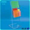 L shape acrylic poster frame stand floor acrylic brochure display stand single side display stand