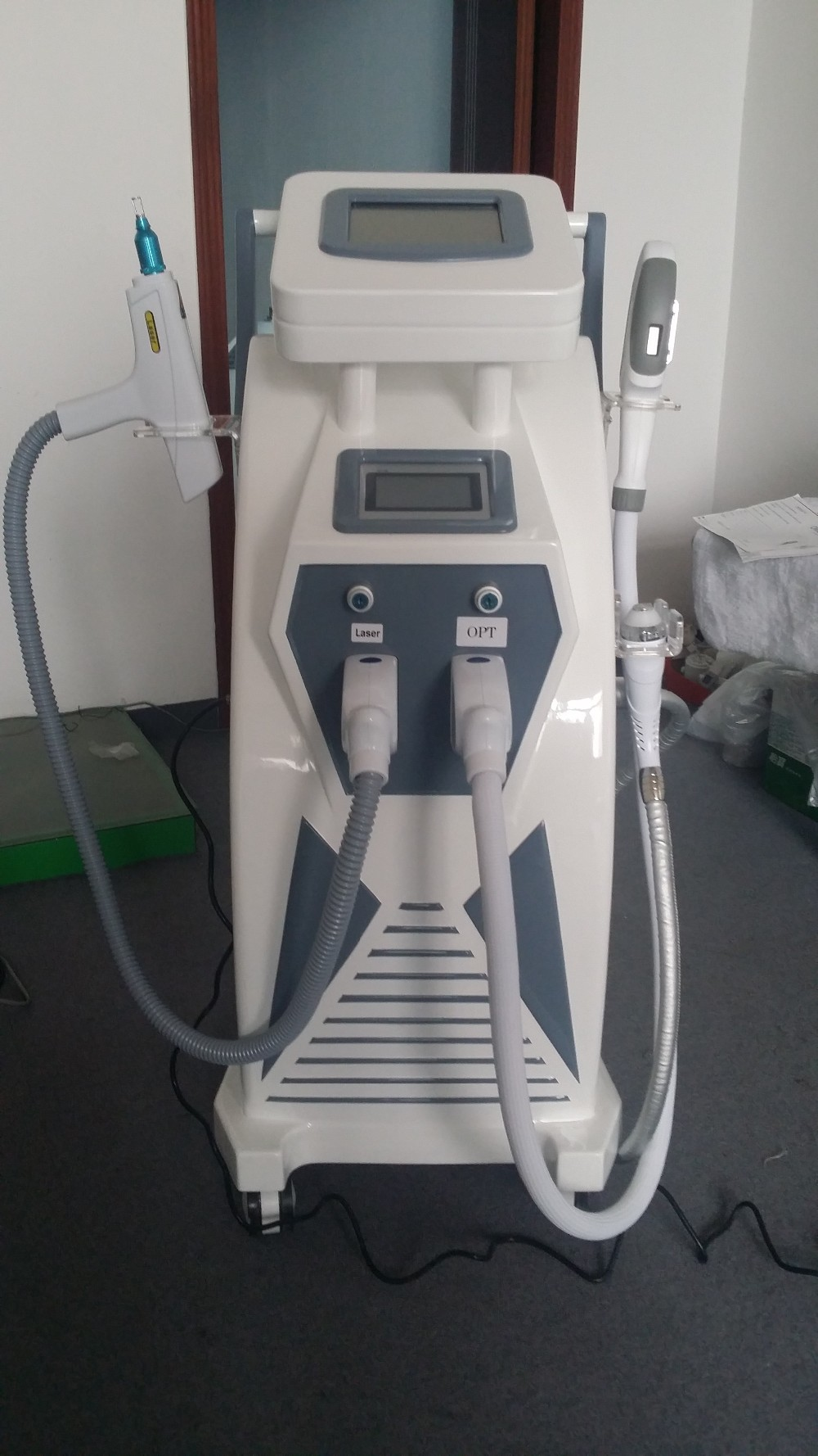 Color touch screen multifunctional beauty equipment/ Elight IPL RF ND Yag laser OPT SHR