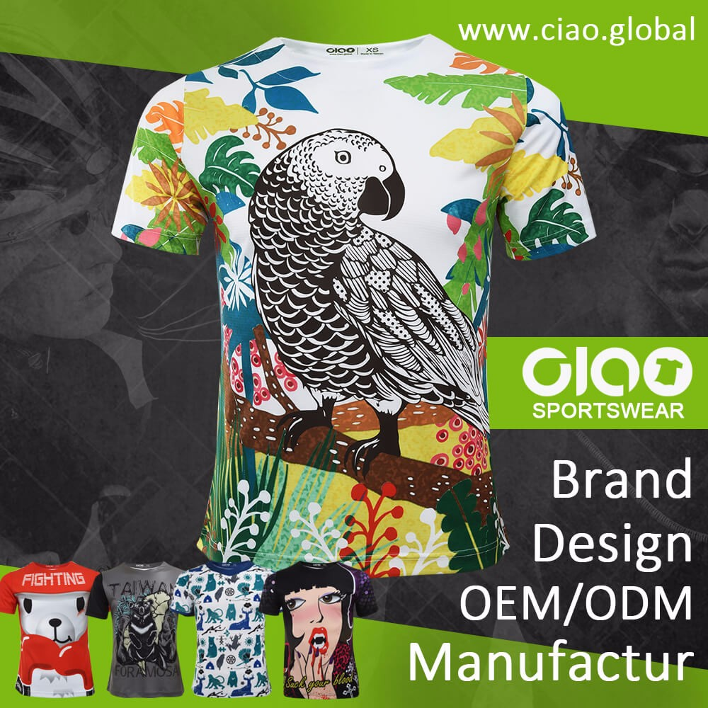 Ciao sportswear Brand new sublimation printing the mountain t-shirt for agent