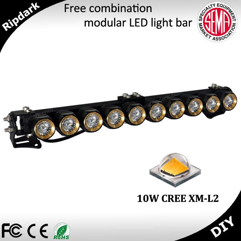 2015 popular motorcycle 50w LED light bar, spot pattern off road light for truck, off road, UTV, ATV, SUV