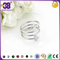 2016 Female Relief Stress Stainless Steel Ring