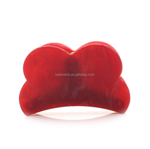 Fashion Red Heart Hair Accessories Cellulose Acetate Acrylic Hair Claws Hair Clips For Women And Girls