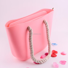 2018 High quality Confection-colored jelly bag rubber handbag