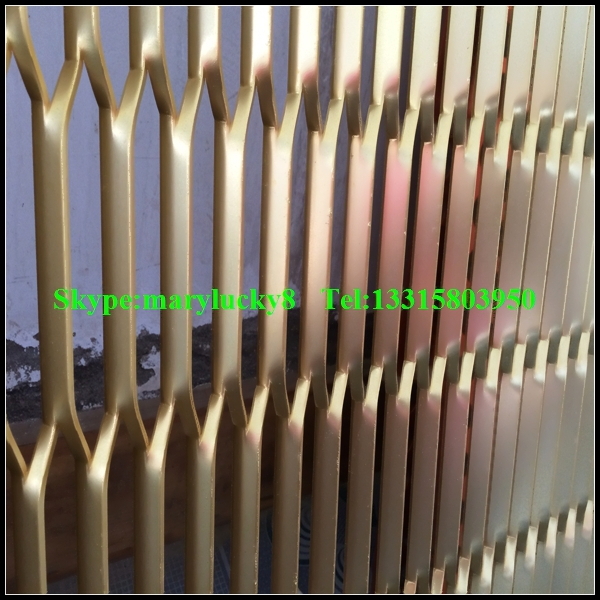 Anodized Aluminum Curtain Wall : Anodized aluminum expanded metal mesh for curtain wall