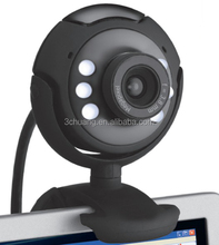 Hot USB2.0 Webcam 6 light night version free driver web camera SC-824