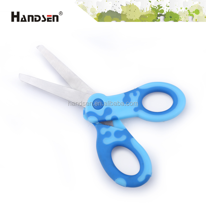 "5-1/2"" PP/TPR soft grip handle coral scissors new scissors"