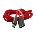 Nylon Braided Charge Cable Zinc Alloy Type C USB Charger Cord