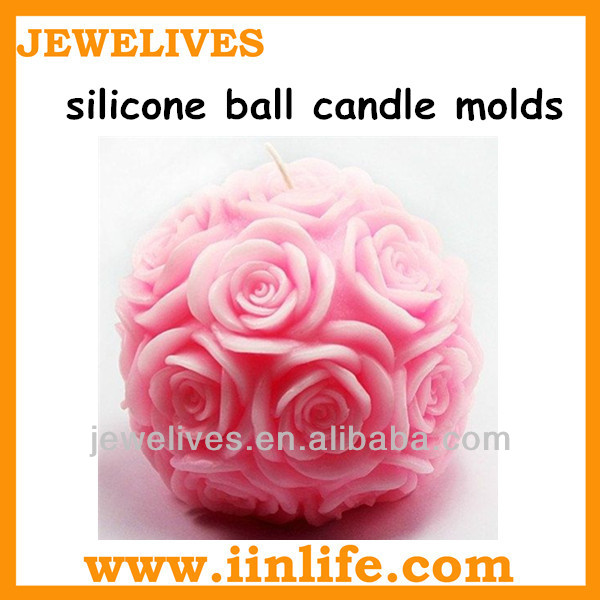 Large decorative ball candle molds for sale