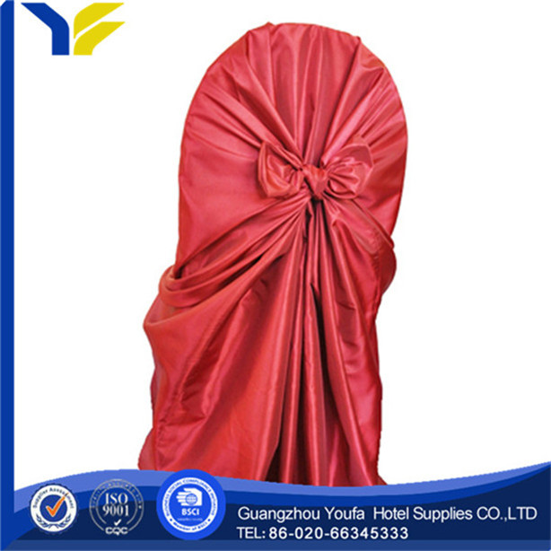 wedding high quality satin party satin rosette chair cover for weddings