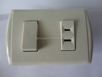 Favorable Price Electric 2 Pin Socket With Wall Switch
