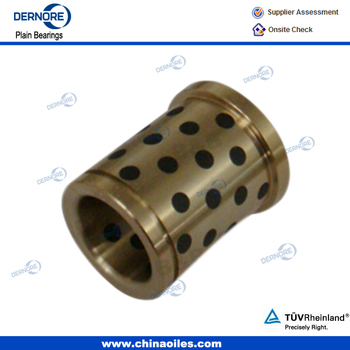 Graphite Filled Brass Bushing flanged brass oilless bushing