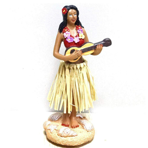 Custom Resin Dashboard Hula Girl Bobble Head