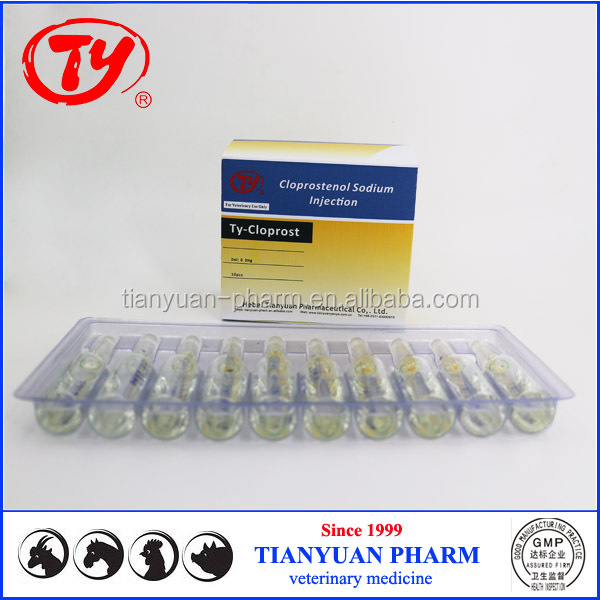 pig stimulant medicine Cloprostenol Sodium Injection with China supplier manufacturer price
