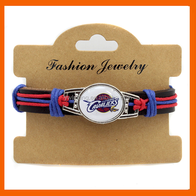 LT JEWELRY CLEVELAND CAVALIERS GENUINE LEATHER BRACELET LEATHER BRACELET BASKETBALL OUTDOOR CAMPING BRACELET DROP SHIPPING