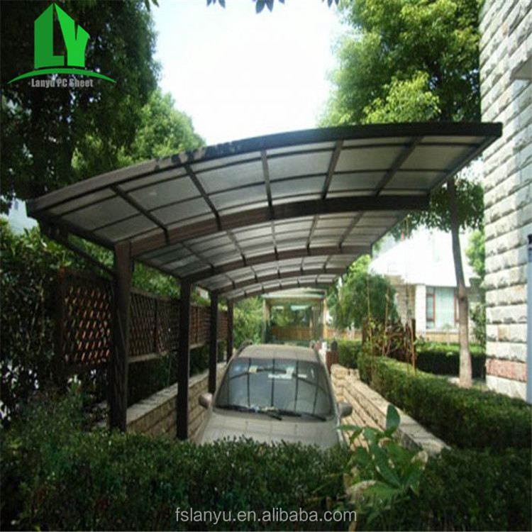 china modern aluminum cantilever snow resistance solid pc single carport