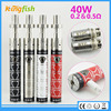 New product 40w battery ego hookah pen with factory price