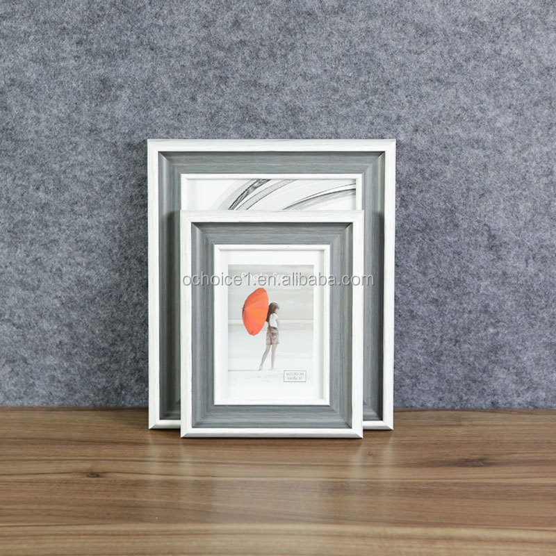 Customized plastic picture frame, PS Foam Picture Frame, glass picture frame