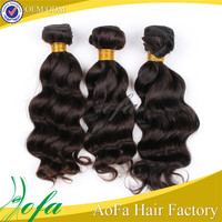 Wholedale 5a grade unprocessed cheap natural body wave virgin indian hair