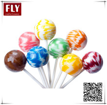 Assorted fruity round sweet stripe rainbow sticks swirl lollipop candy