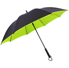 Automatic Straight Double Layer Cheap Windproof Golf Umbrella For Promotion