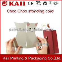 2016 OEM printing different shapes greeting cards manufacture in China