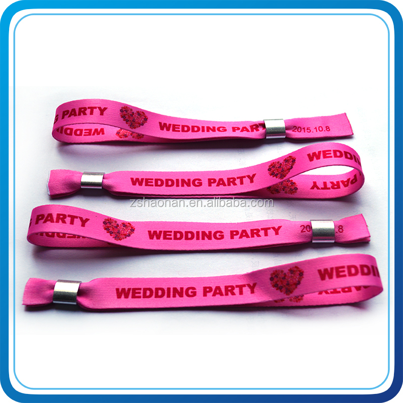 Wedding giveaways sublimation printing party hand bands