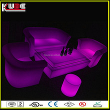 2016 waterproof illuminated outdoor furniture with modern design