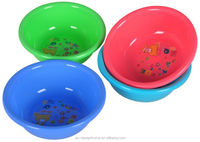 FUCHSIA, TURQUOISE, LIME GREEN, ORANGE 4.1L ROUND PP PLASTIC BASIN