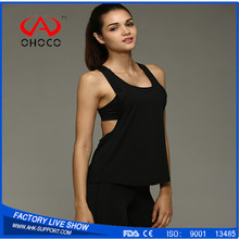 Custom Sports Wear Ladies Cropped Top Womens Gym Fitness Vest