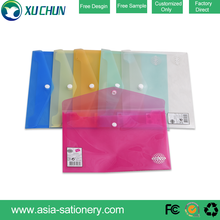 OEM Office stationery document pp bag Envelope file folder bag with button closure