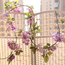 High Quality Plastic Silk Artificial Flower Vines For Wall Decoration