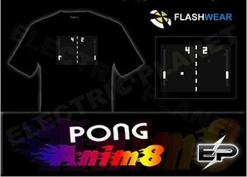 [Super Deal]Wholesale fashion hot sale T-shirt A17,el t-shirt,led t-shirt