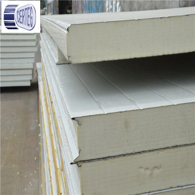 Building materials cheap price pu sandwich roof panel for house kits sip panels
