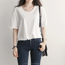 monroo New Summer fashion Korea women loose solid color stylish T shirt