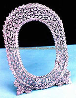 Luxury silver antique embossed picture frame