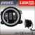 2016 Hot sales 4inch round 30w c-ree led front fog light with halo for Har-ley j-eep