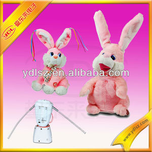 singing and dancing rabbit stuffed doll toy plush musical christmas toy,christmas animated musical toys,custom plush toys
