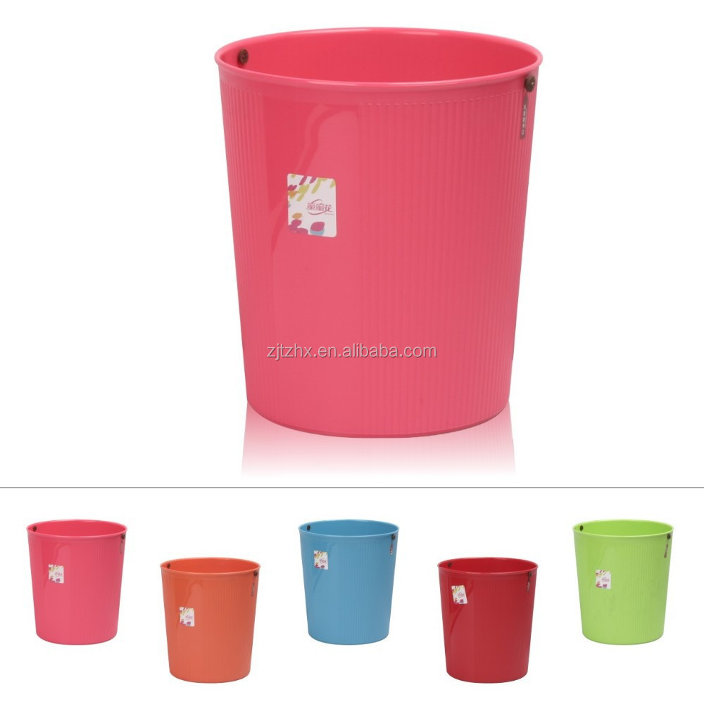 Plastic Widemouth Trash Can Dustbin Waste Bin 10L