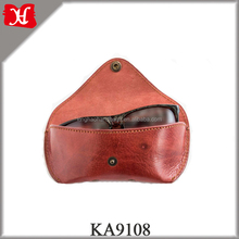 Handmade Vintage Leather Sunglass Case Soft Travel Glasses Case Eyeglass Pouch