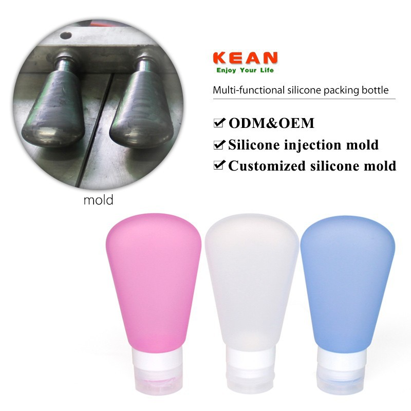 China manufacturer custom mold go tube silicone travel containers
