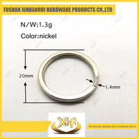 Factory price metal key ring 20mm ring for bag parts