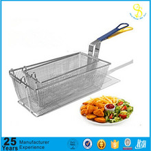 Professional produce deep wire fry basket, spider fry strainer, fry pot with basket